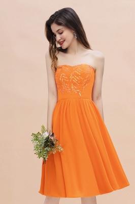Schlichte Brautjungfernkleider Kurz | Hochzeitsgäste Kleider Günstig_7