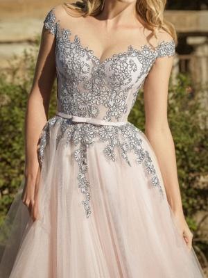 Simple wedding dresses V neckline | Sheath dresses bridal online_2