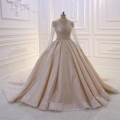 Hochzeitskleider Prinzessin Glitzer | Brautkleider mit Ärmel_4