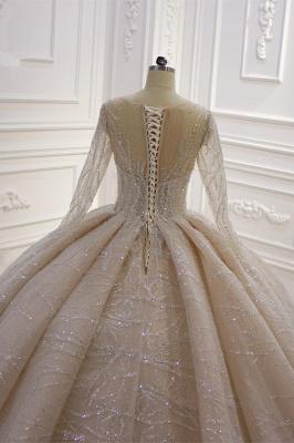 Extravagant wedding dresses princess   Wedding dresses glitter with sleeves_7