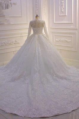 Prinzessin Hochzeitskleider mit Glitzer | Brautkleider Spitze Ärmel_3
