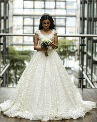Elegant wedding dresses A line | Lace Wedding Dresses Online_2