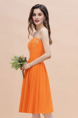 Schlichte Brautjungfernkleider Kurz | Hochzeitsgäste Kleider Günstig_6