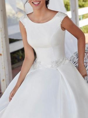 Schlichte Brautkleid A linie | Wunderschöne Hochzeitskleid Günstig Online_3