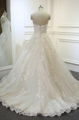 Brautkleider A Linie Spitze | Hochzeitskleider Maßgeschneidert_3