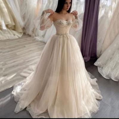 Schlichte Brautkleider A linie | Hochzeitskleider mit Ärmel_2