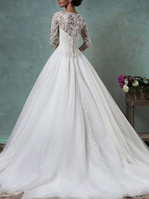 Wedding dresses A line | Gorgeous wedding dresses lace sleeves_2