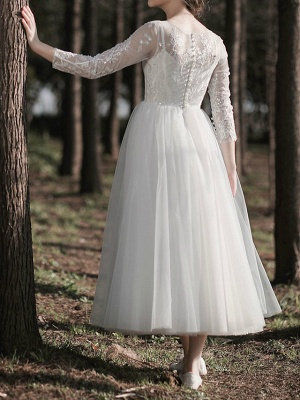 Gorgeous Wedding Dresses With Sleeves | Lace wedding dress short_6