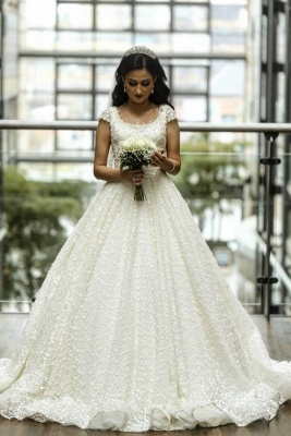 Elegant wedding dresses A line | Lace Wedding Dresses Online_1