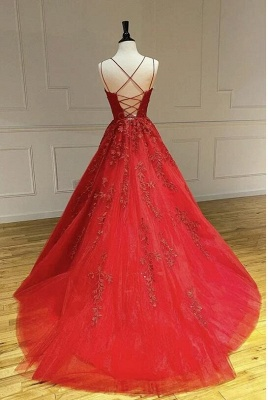 Beautiful evening dresses long red | Evening wear with lace online_3