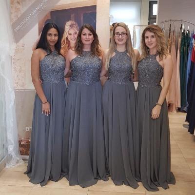 Elegante Brautjungfernkleider Lang Chiffon | Kleider für Brautjungfern Online_2