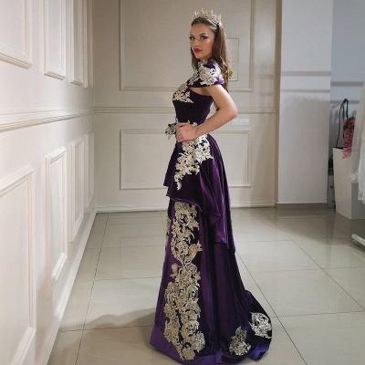 Purpur Abendkleider Lang Günstig | Velvet Abiballkleider Online_4