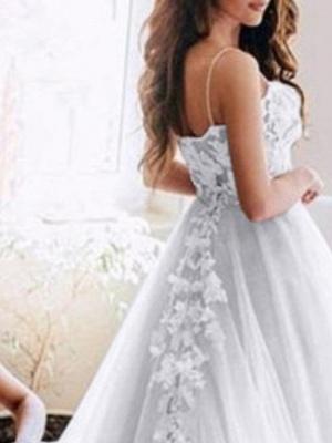 Designer Brautkleid A Linie   Hochzeitskleider mit Spitze Online_2