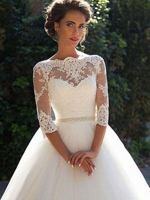 Günstige Brautkleider Prinzessin | Hochzeitskleider Spitze Ärmel_2