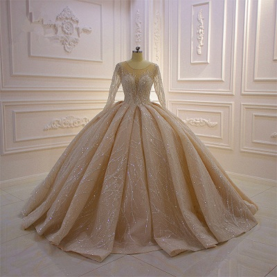 Extravagant wedding dresses princess   Wedding dresses glitter with sleeves_3