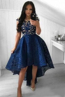 Cocktailkleid Kurz Blau | Abiballkleider Abendkleider Spitze