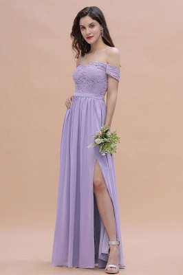 Brautjungfernkleider Lang Lavender | Hochzeitsgäste Partykleider Günstig_7