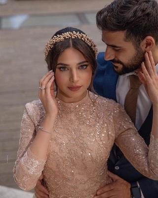 Elegante Brautkleider Kurz | Hochzeitskleider Spitze mit Ärmel_2
