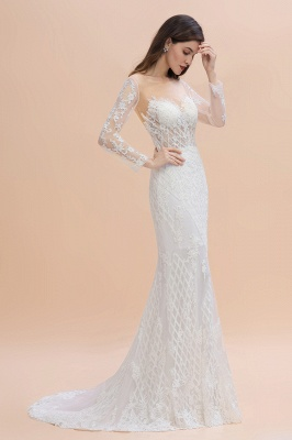Designer Brautkleider Meerjungfrau | Hochzeitskleider Spitzeärmel_3
