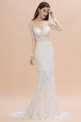 Designer Brautkleider Meerjungfrau | Hochzeitskleider Spitzeärmel_1