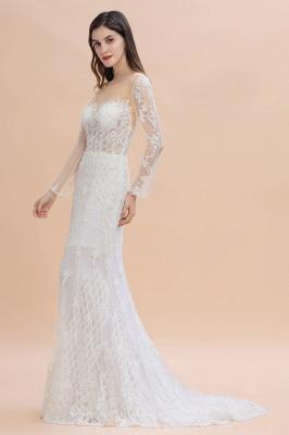 Designer Brautkleider Meerjungfrau | Hochzeitskleider Spitzeärmel_4