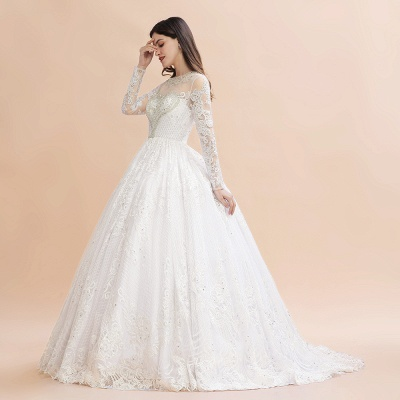 Gorgeous wedding dresses with sleeves | Lace wedding dress princess_5