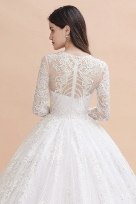 Gorgeous wedding dresses with sleeves | Lace wedding dress princess_9