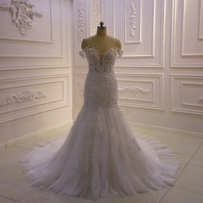 Brautkleider Meerjungfrau Spitze   Hochzeitskleider Günstig Kaufen_2