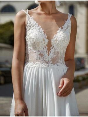 Sexy Brautkleider mit Spitze | Chiffon Sommer Kleider Hochzeitskleid_3