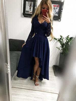 Burgundy prom dresses | Festive dresses with sleeves_4