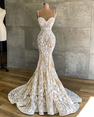 Designer Hochzeitskleid Meerjungfrau | Brautkleider mit Spitze_2