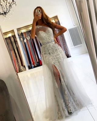 Elegant Evening Dresses Long Lace | Prom dresses glitter_3