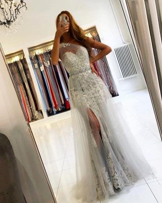 Elegante Abendkleider Lang Spitze | Abiballkleider Glitzer_3