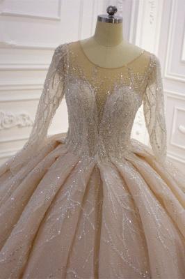 Extravagant wedding dresses princess   Wedding dresses glitter with sleeves_5