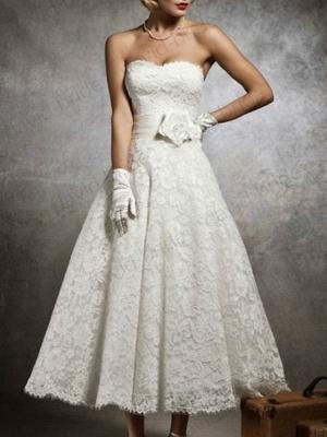 Brautkleid Kurz A linie | Hochzeitskleider mit Spitze_1