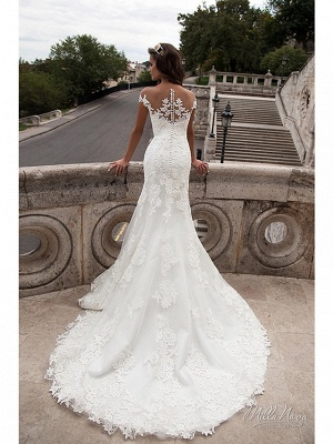 Wunderschöne Brautkleider Meerjungfrau | Spitze Hochzeitskleider Online_4
