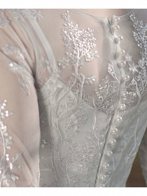 Gorgeous Wedding Dresses With Sleeves | Lace wedding dress short_7