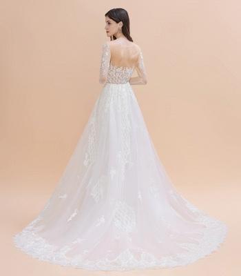 Designer Brautkleider Meerjungfrau | Hochzeitskleider Spitzeärmel_9