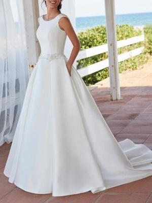 Schlichte Brautkleid A linie | Wunderschöne Hochzeitskleid Günstig Online_1