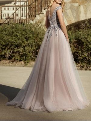 Simple wedding dresses V neckline | Sheath dresses bridal online_3