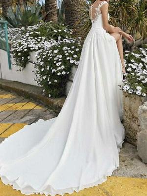 Fashion Brautkleider Mit Spitze | Chiffon Hochzeitskleider Etuikleider_2