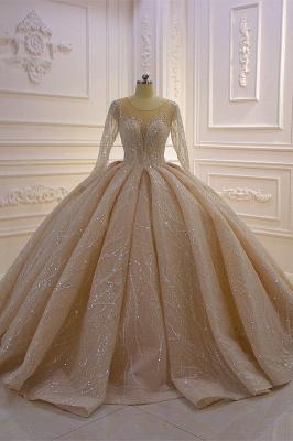 Extravagant wedding dresses princess   Wedding dresses glitter with sleeves_4