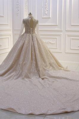 Hochzeitskleider Prinzessin Glitzer | Brautkleider mit Ärmel_2