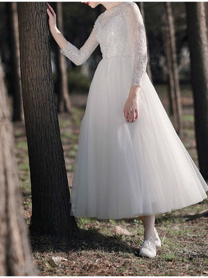 Gorgeous Wedding Dresses With Sleeves | Lace wedding dress short_5
