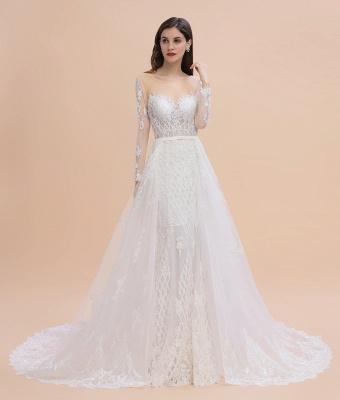 Designer Brautkleider Meerjungfrau | Hochzeitskleider Spitzeärmel_8