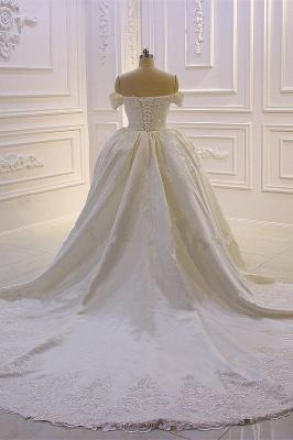 Schöne Hochzeitskleider A Linie Spitze | Brautkleider Cream_4