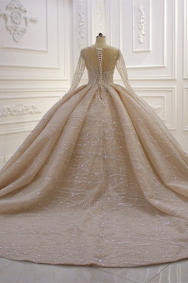 Extravagant wedding dresses princess   Wedding dresses glitter with sleeves_6