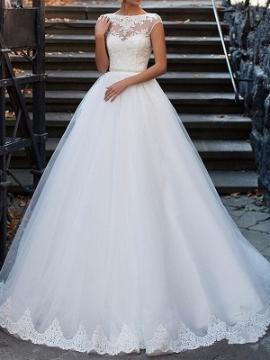 Sexy wedding dress A line | Vintage wedding dresses with lace_1