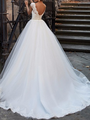 Sexy wedding dress A line | Vintage wedding dresses with lace_3