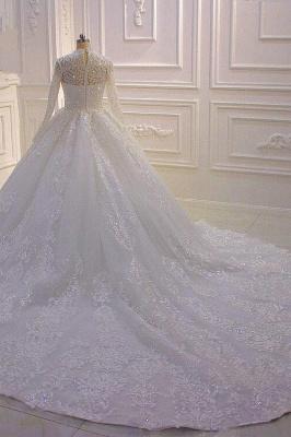 Prinzessin Hochzeitskleider mit Glitzer | Brautkleider Spitze Ärmel_5